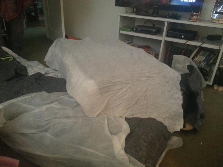 Cut futon mattress