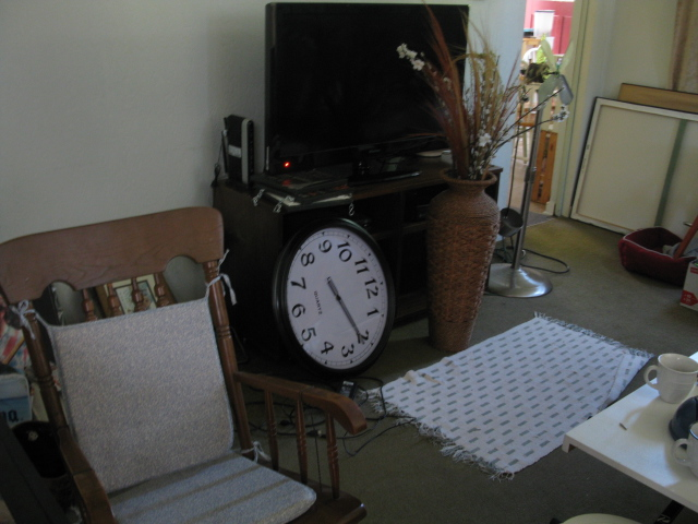 Living room - moving day
