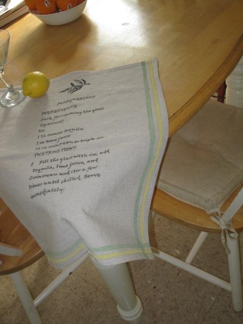 Marguerita Tea Towel