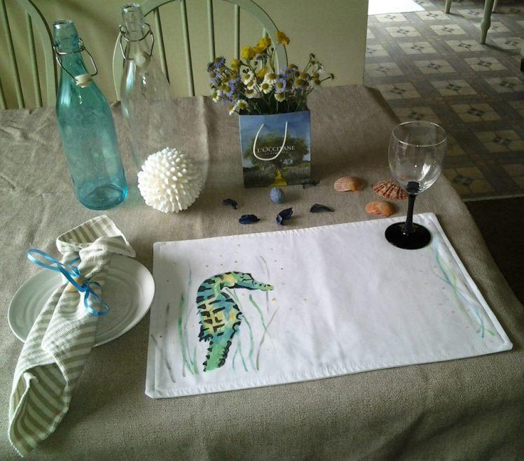 Seahorse place mat