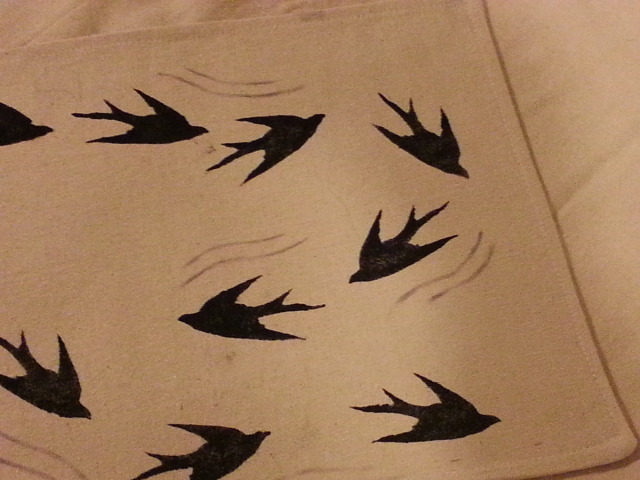 swallows closeup