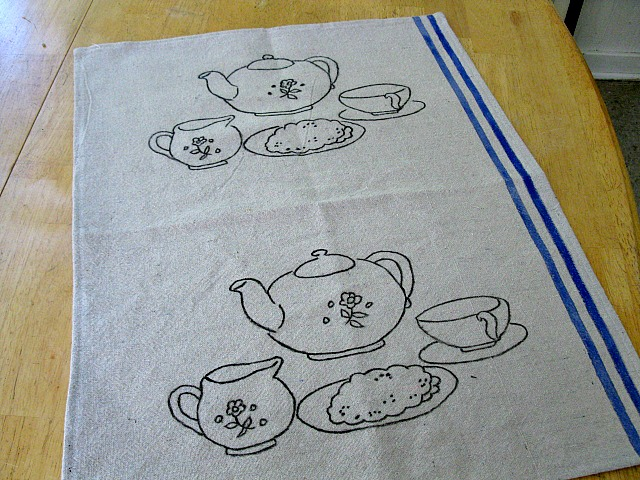 Tea Set Tea Towel2