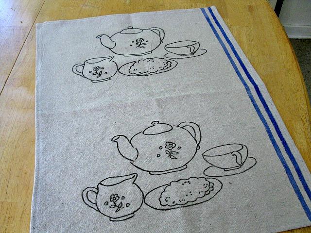 Tea Set Tea Towel2