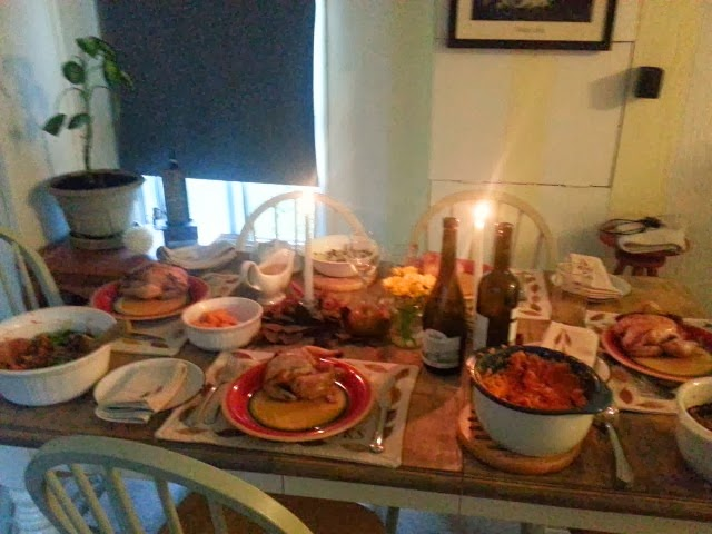 thankgiving table food