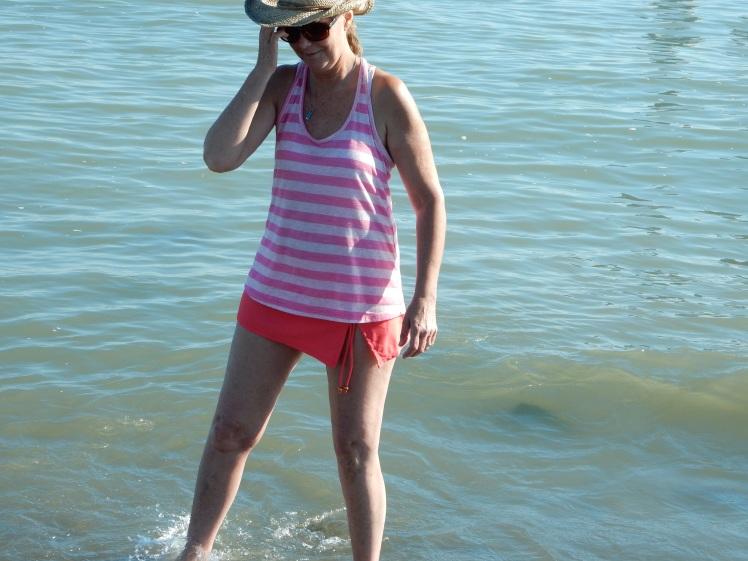 Beach - Jane at Garry point2 - aug 2013