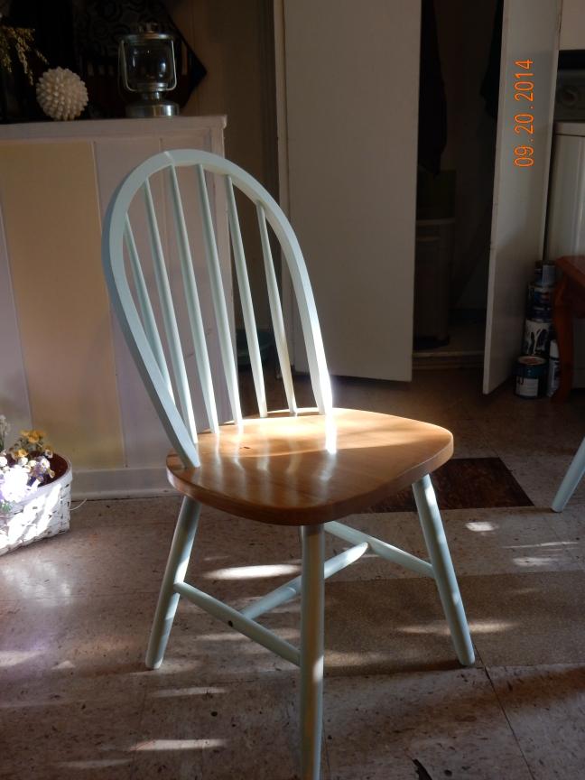 new blue chair