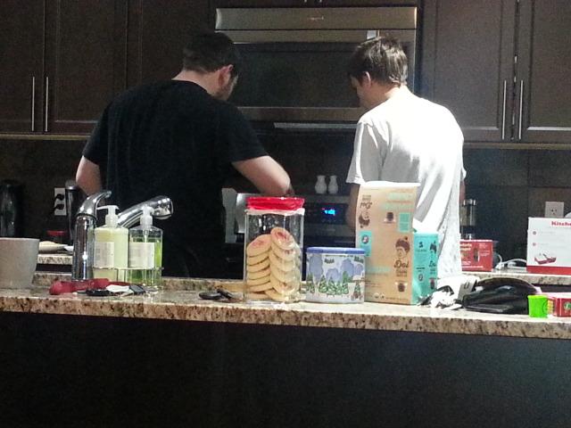 Mat & Alex making breakfast