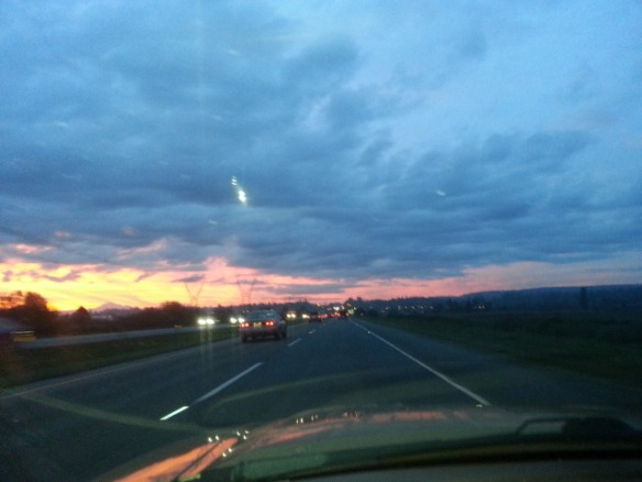 Sunrise on the way to work